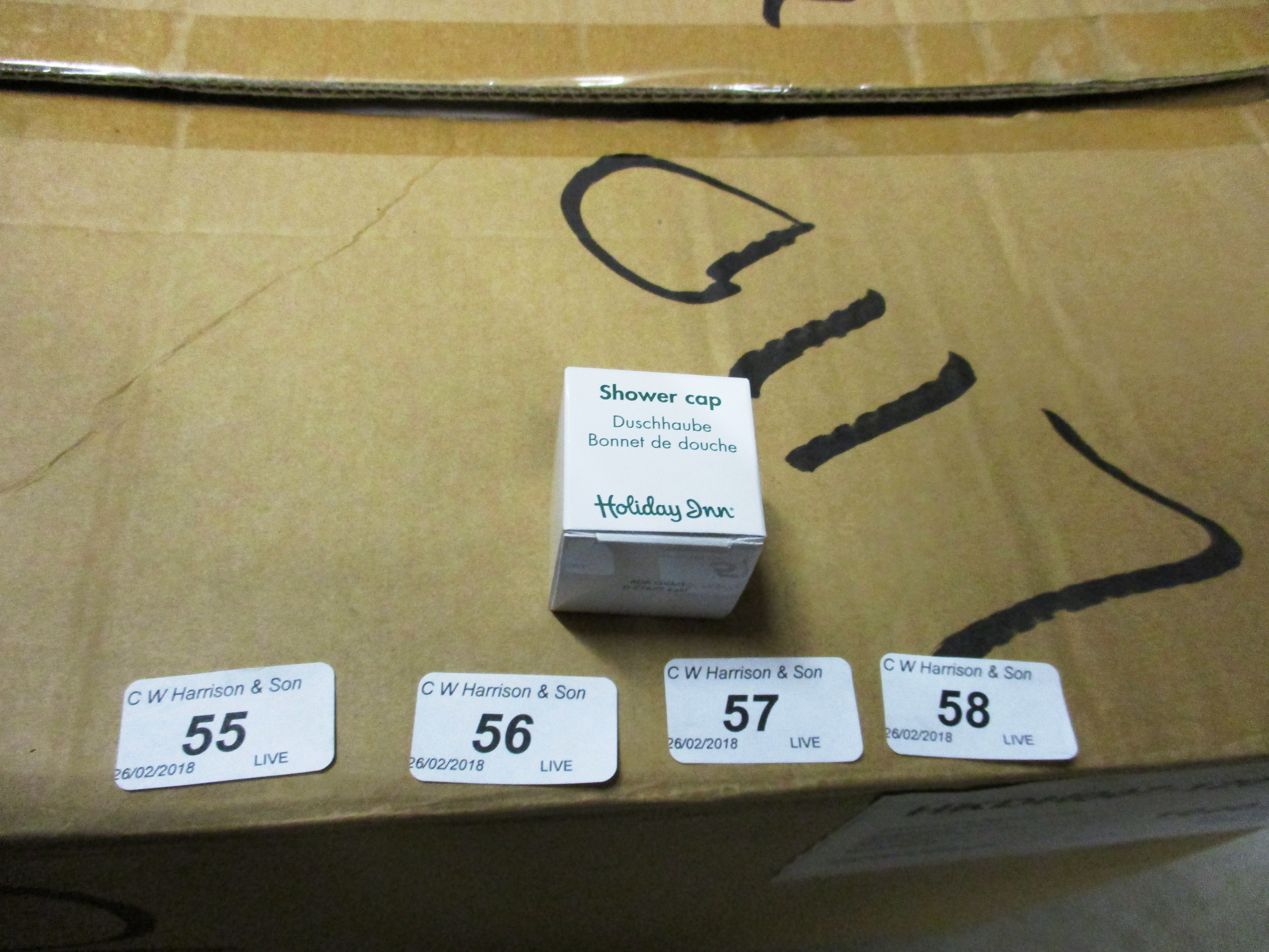 Lot 56 - 1000 x Holiday Inn shower caps (1 outer box)