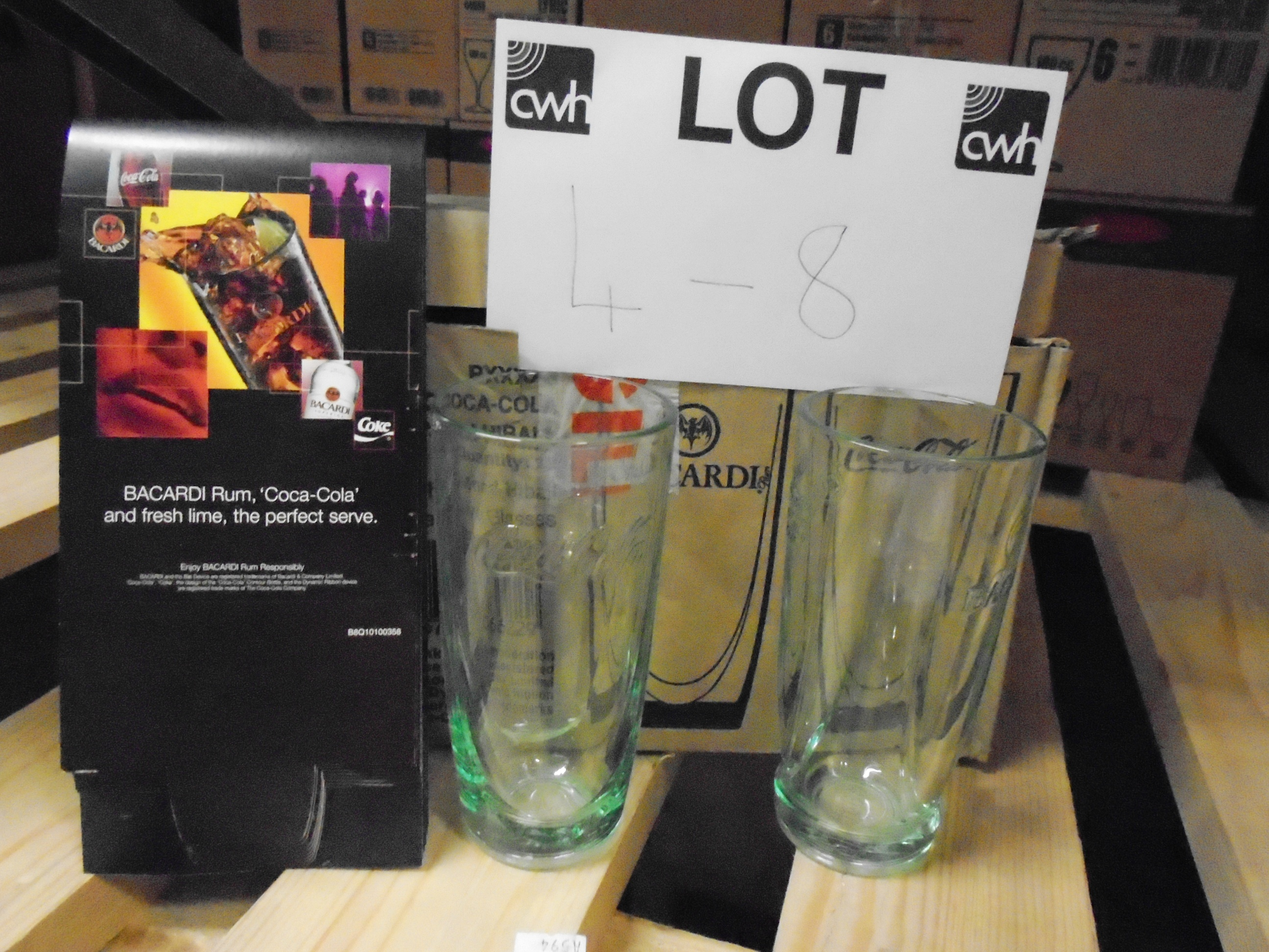 Lot 7 - 120 x 33cl Bacardi rum and Coca-Cola glasses (10 x outer boxes)