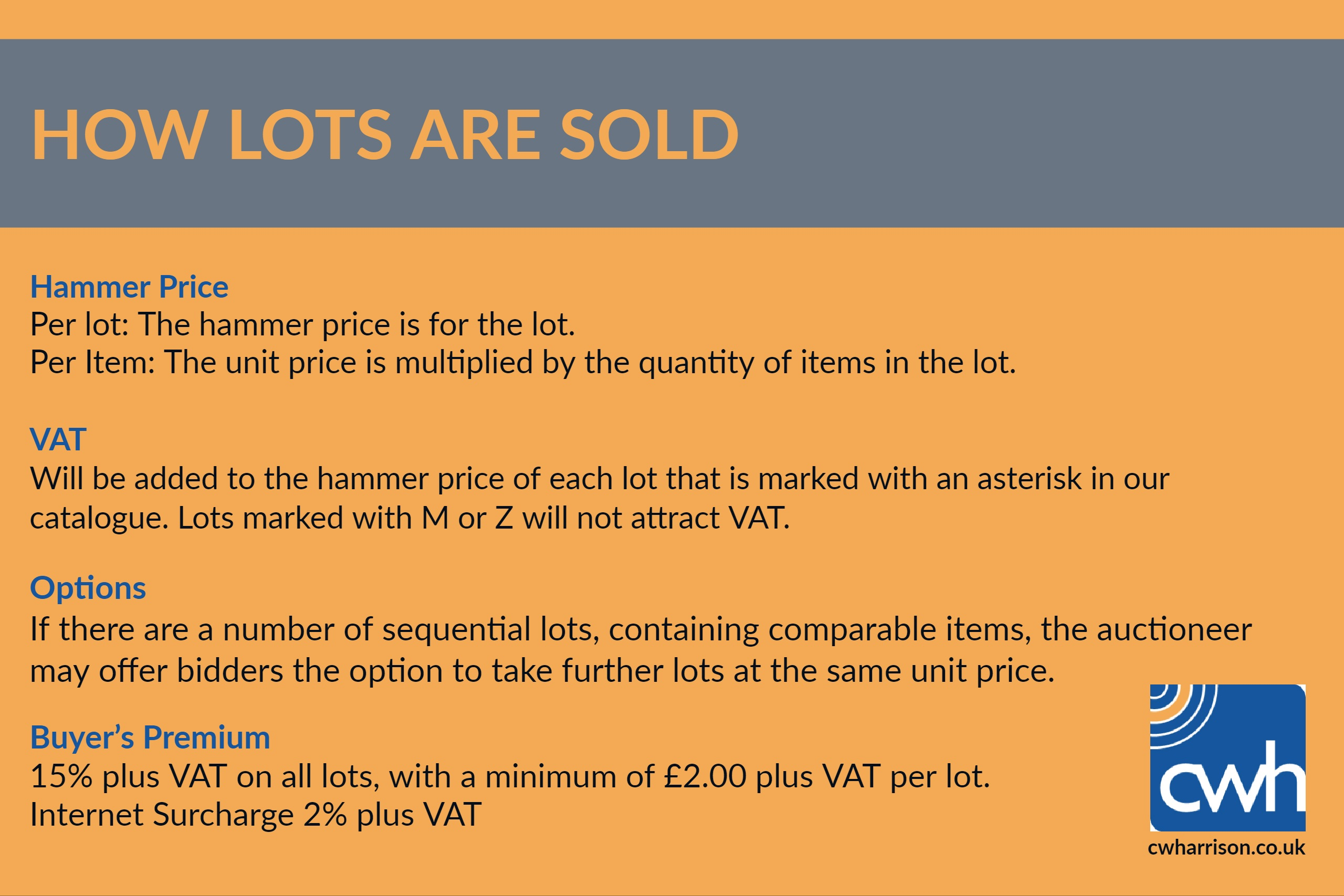 Lot 1D - How Lots Are Sold