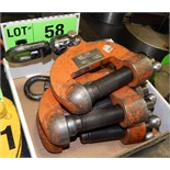 LOT/ (4) PLATE LIFTING CLAMPS