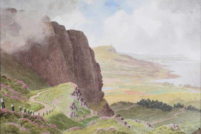 Joseph William Carey, RUA - CAVEHILL, BELFAST - Watercolour Drawing - 10 x 14 inches - Signed