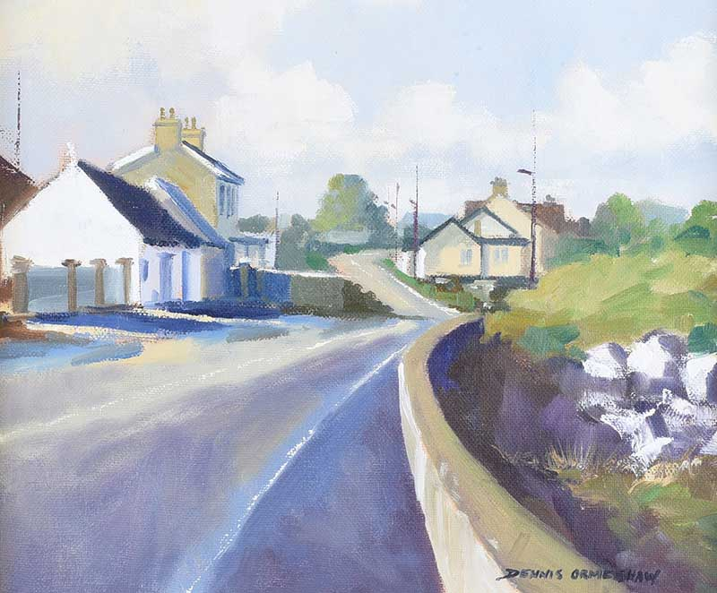 Dennis Orme Shaw - COUNTY DOWN ROAD - Oil on Canvas - 10 x 12 inches - Signed