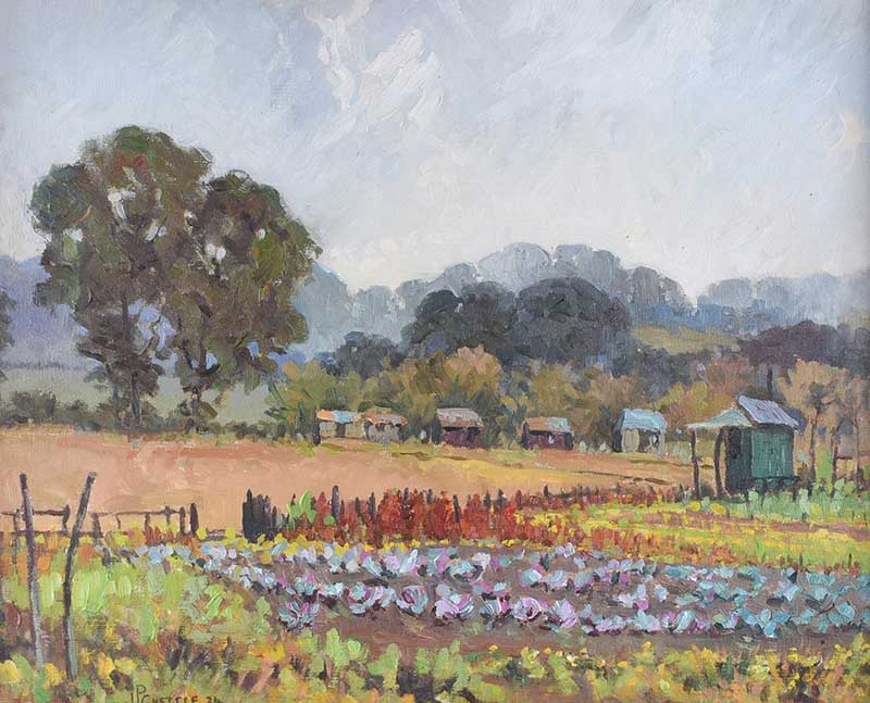 James P. Chettle - THE CABBAGE PATCH - Oil on Canvas - 16 x 20 inches - Signed