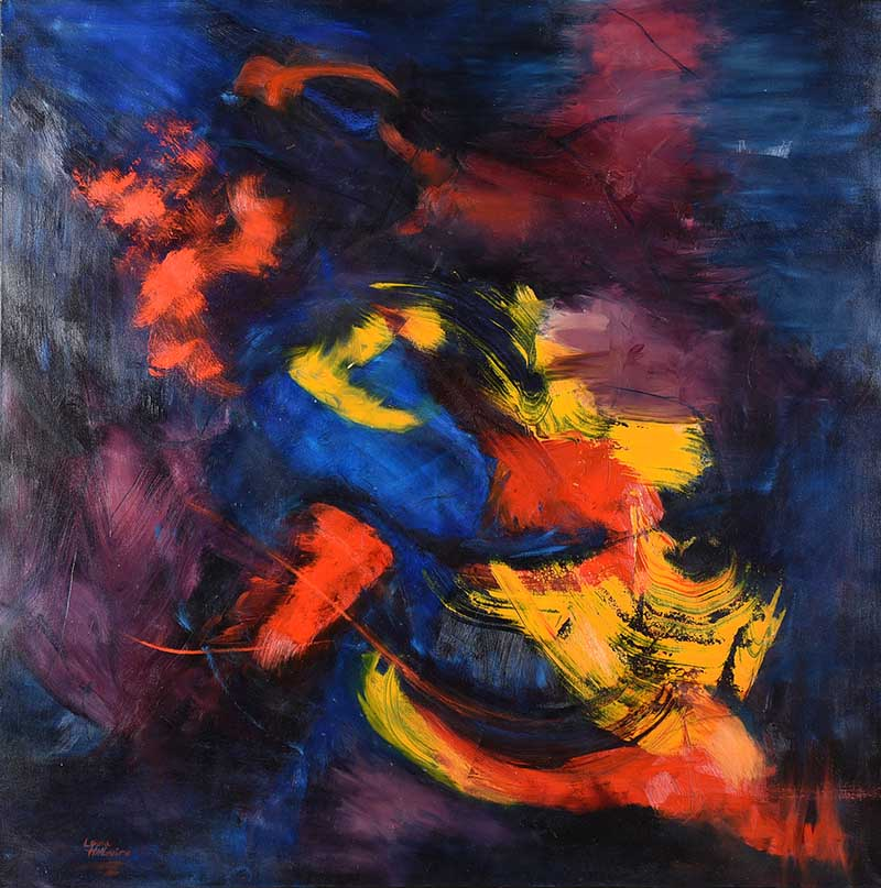 Laura McGuire - ABSTRACT II - Oil on Canvas - 72 x 72 inches - Signed