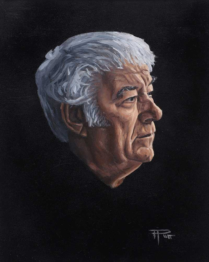 Thomas Putt - SEAMUS HEANEY - Oil on Board - 12 x 10 inches - Signed