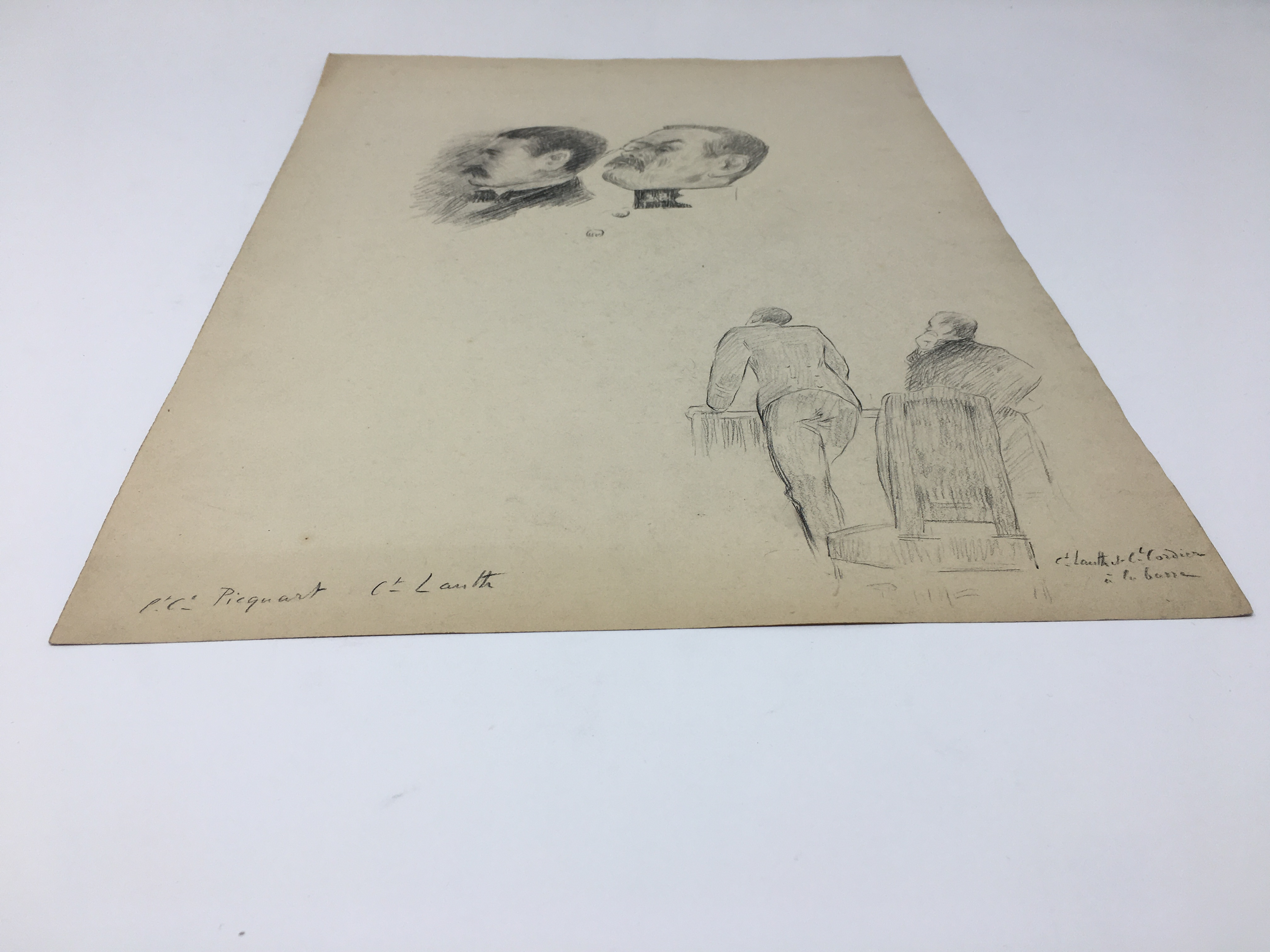 J'Accuse Newspaper, Emile Zola Quote, Signed Dreyfus Portrait, Rare Trial Drawings & Schwartzkoppen - Image 50 of 74