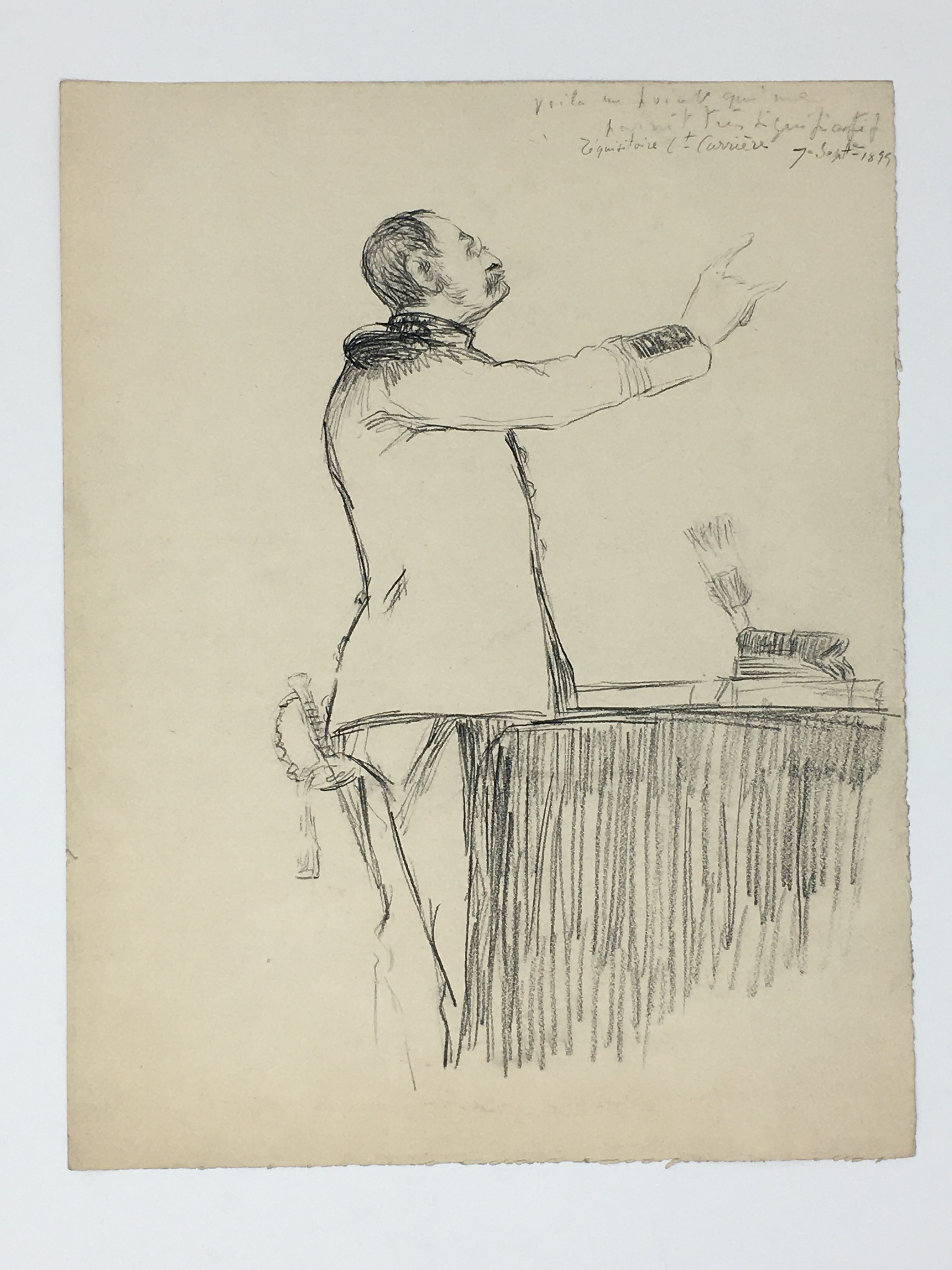 J'Accuse Newspaper, Emile Zola Quote, Signed Dreyfus Portrait, Rare Trial Drawings & Schwartzkoppen - Image 54 of 74