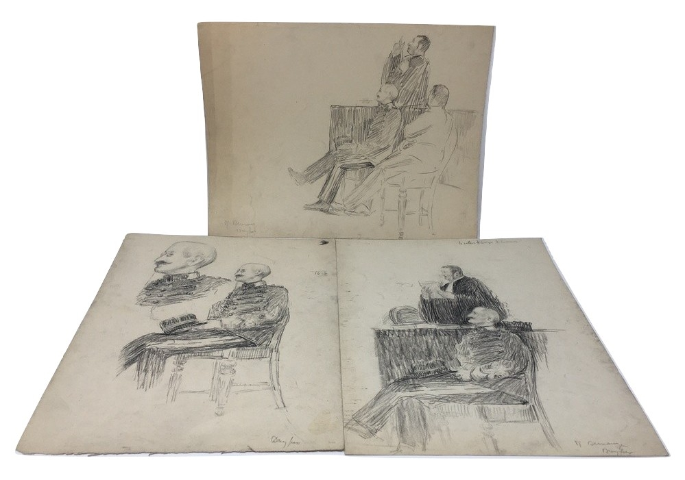 J'Accuse Newspaper, Emile Zola Quote, Signed Dreyfus Portrait, Rare Trial Drawings & Schwartzkoppen - Image 13 of 74