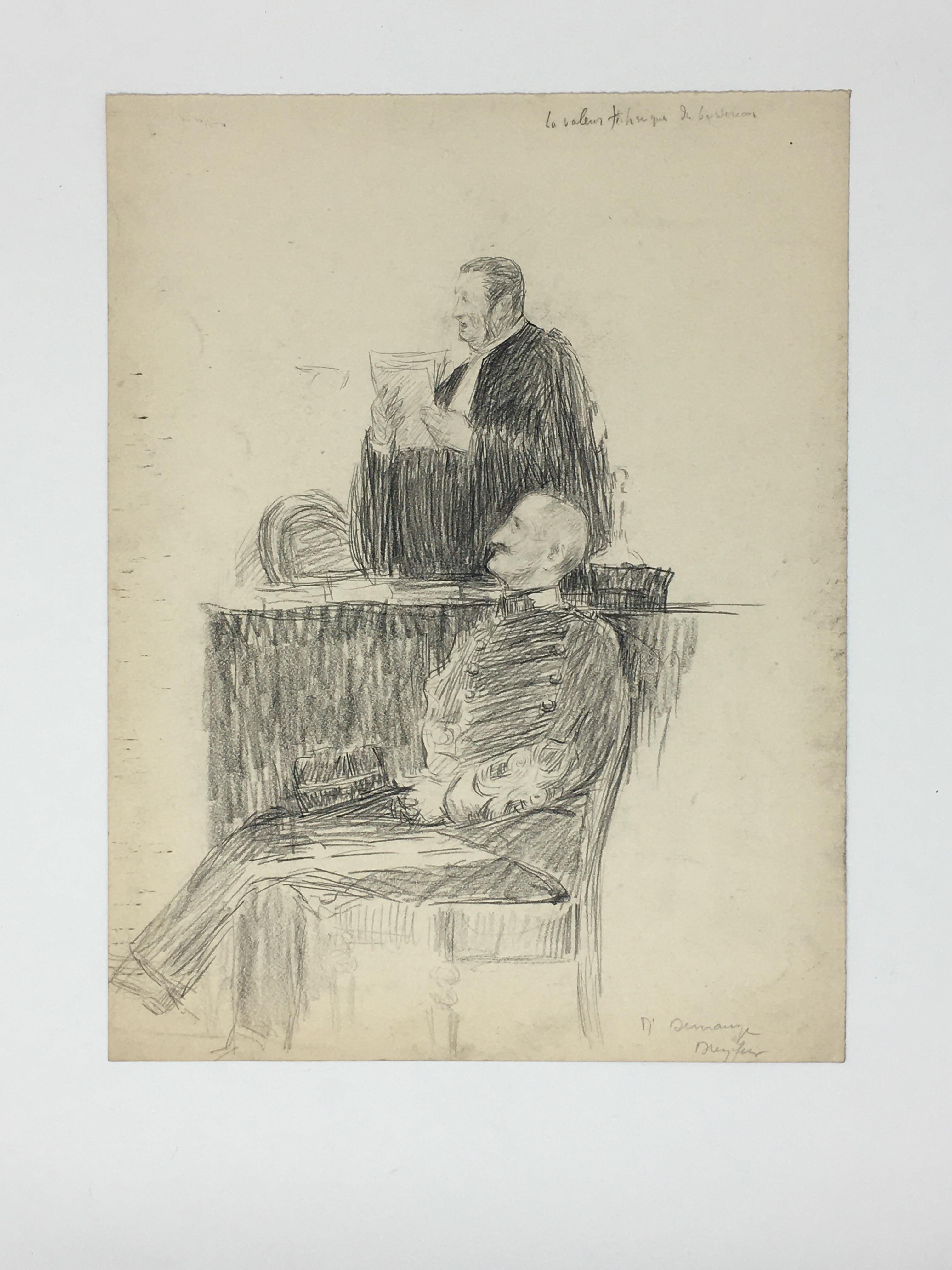 J'Accuse Newspaper, Emile Zola Quote, Signed Dreyfus Portrait, Rare Trial Drawings & Schwartzkoppen - Image 19 of 74