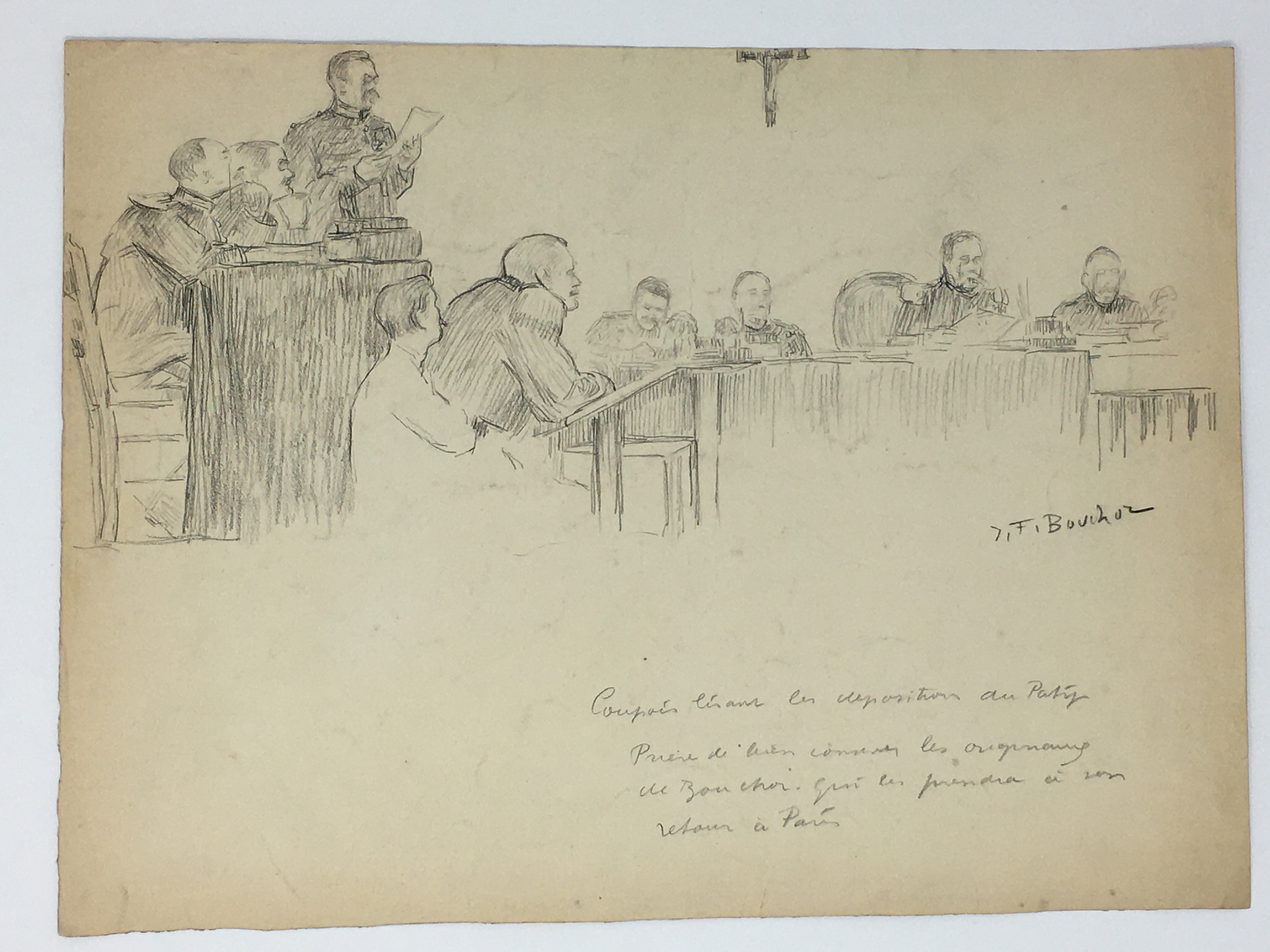J'Accuse Newspaper, Emile Zola Quote, Signed Dreyfus Portrait, Rare Trial Drawings & Schwartzkoppen - Image 30 of 74