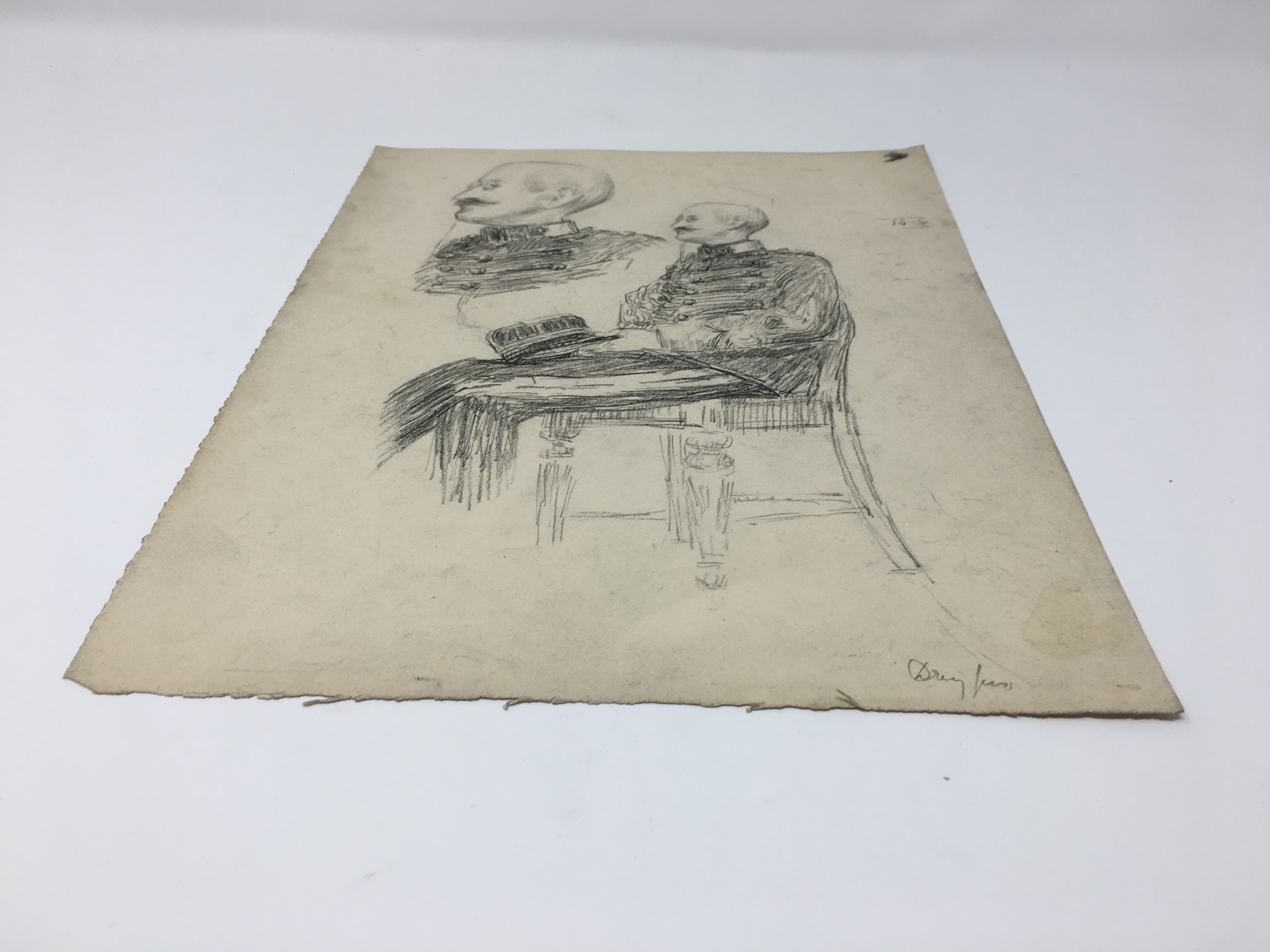 J'Accuse Newspaper, Emile Zola Quote, Signed Dreyfus Portrait, Rare Trial Drawings & Schwartzkoppen - Image 15 of 74