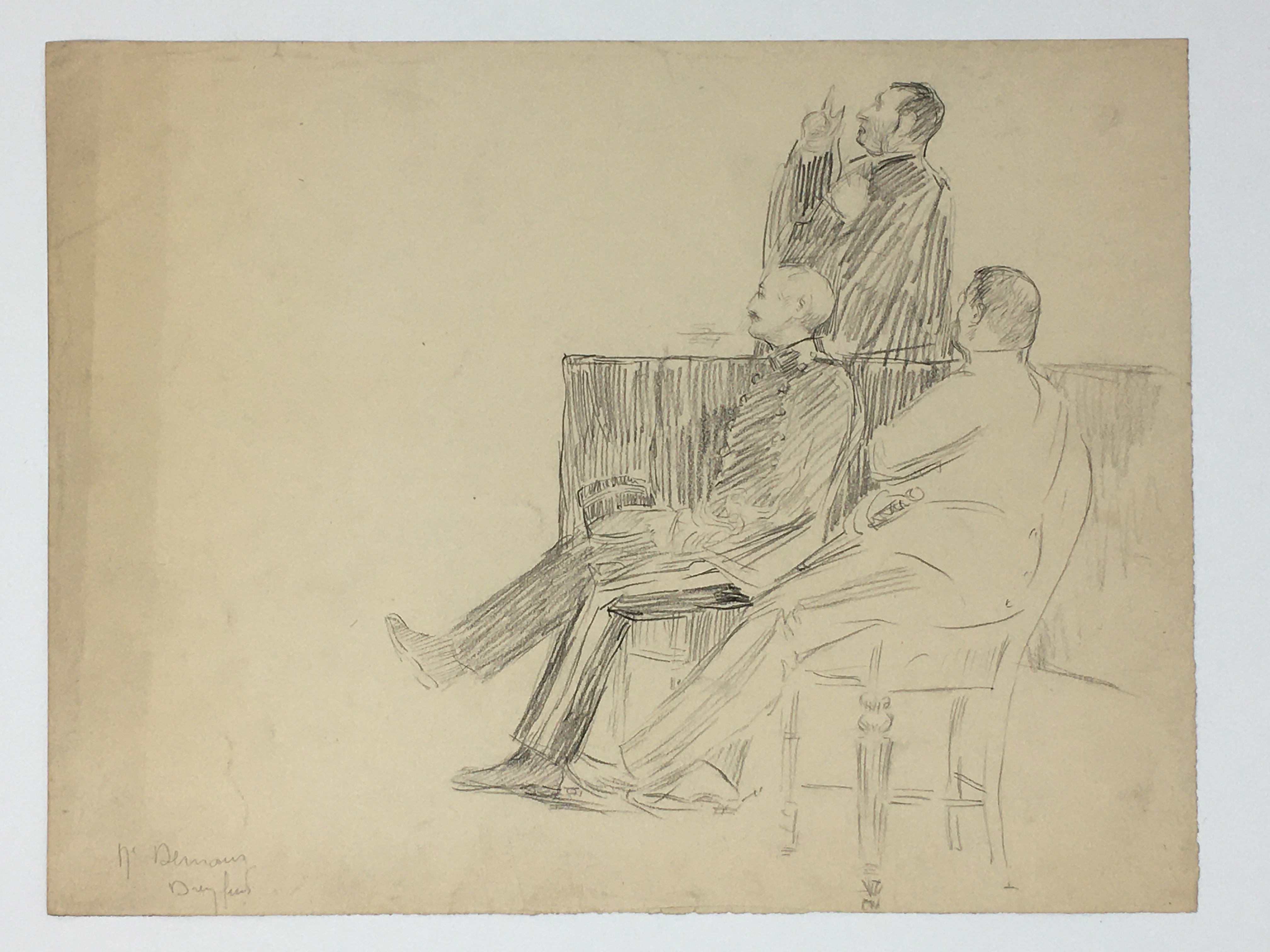J'Accuse Newspaper, Emile Zola Quote, Signed Dreyfus Portrait, Rare Trial Drawings & Schwartzkoppen - Image 25 of 74