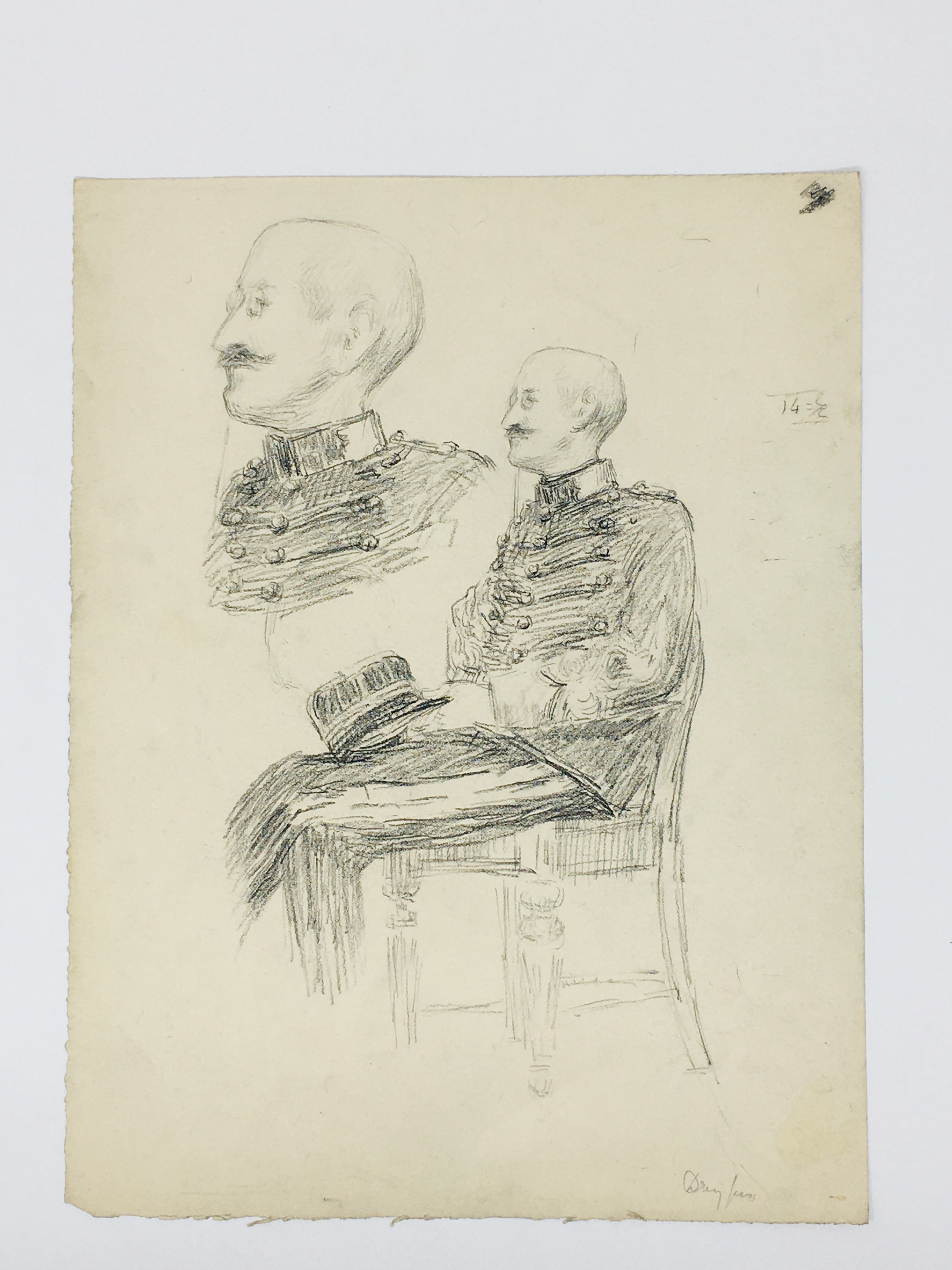 J'Accuse Newspaper, Emile Zola Quote, Signed Dreyfus Portrait, Rare Trial Drawings & Schwartzkoppen - Image 14 of 74