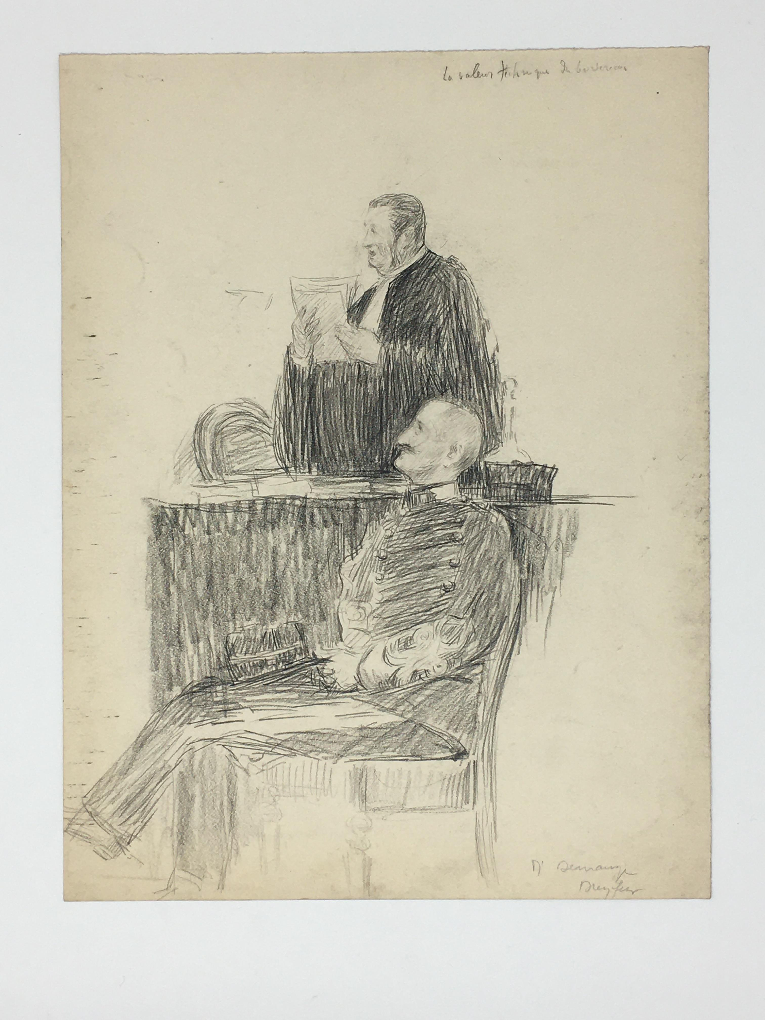 J'Accuse Newspaper, Emile Zola Quote, Signed Dreyfus Portrait, Rare Trial Drawings & Schwartzkoppen - Image 20 of 74