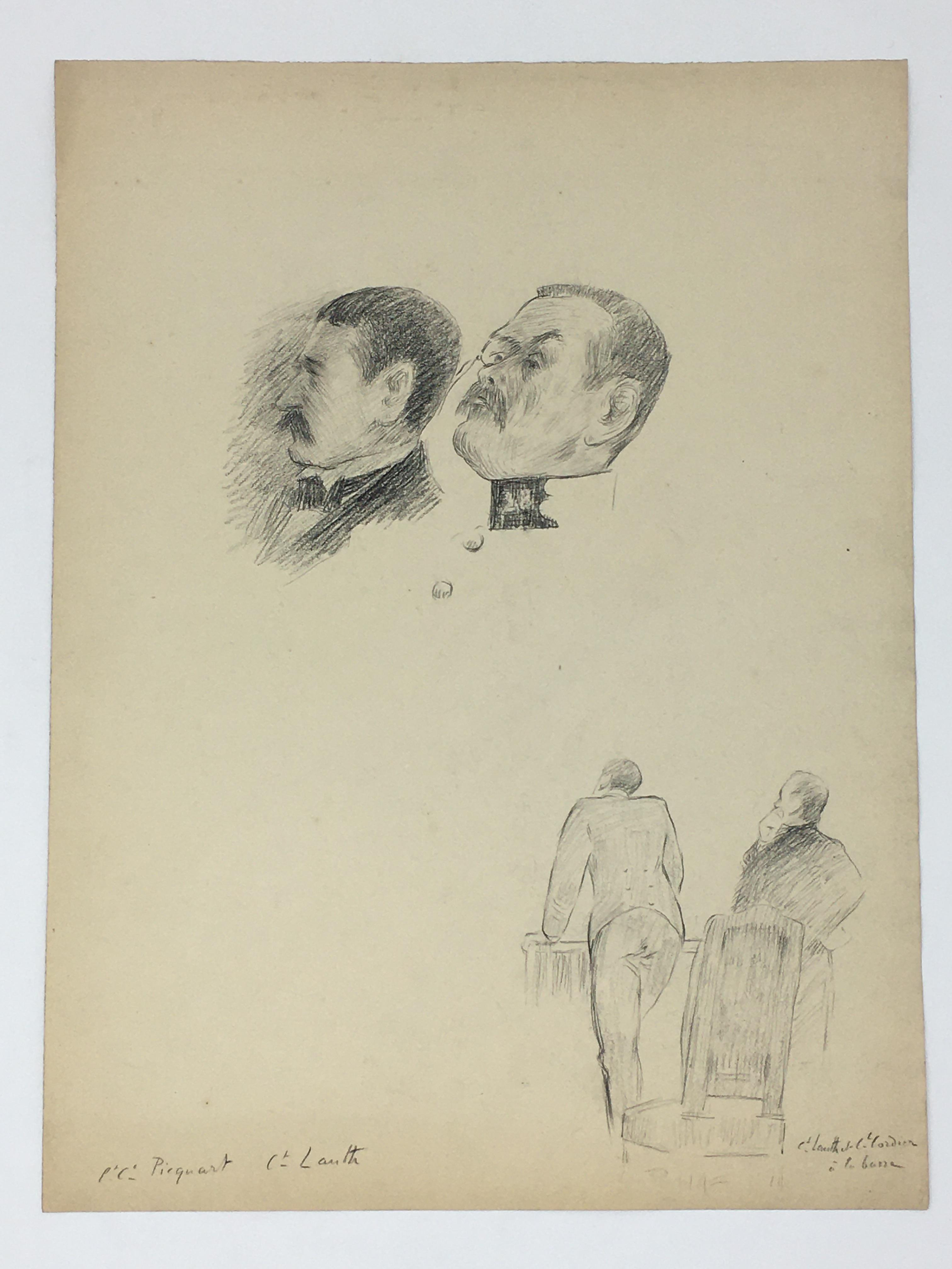 J'Accuse Newspaper, Emile Zola Quote, Signed Dreyfus Portrait, Rare Trial Drawings & Schwartzkoppen - Image 49 of 74