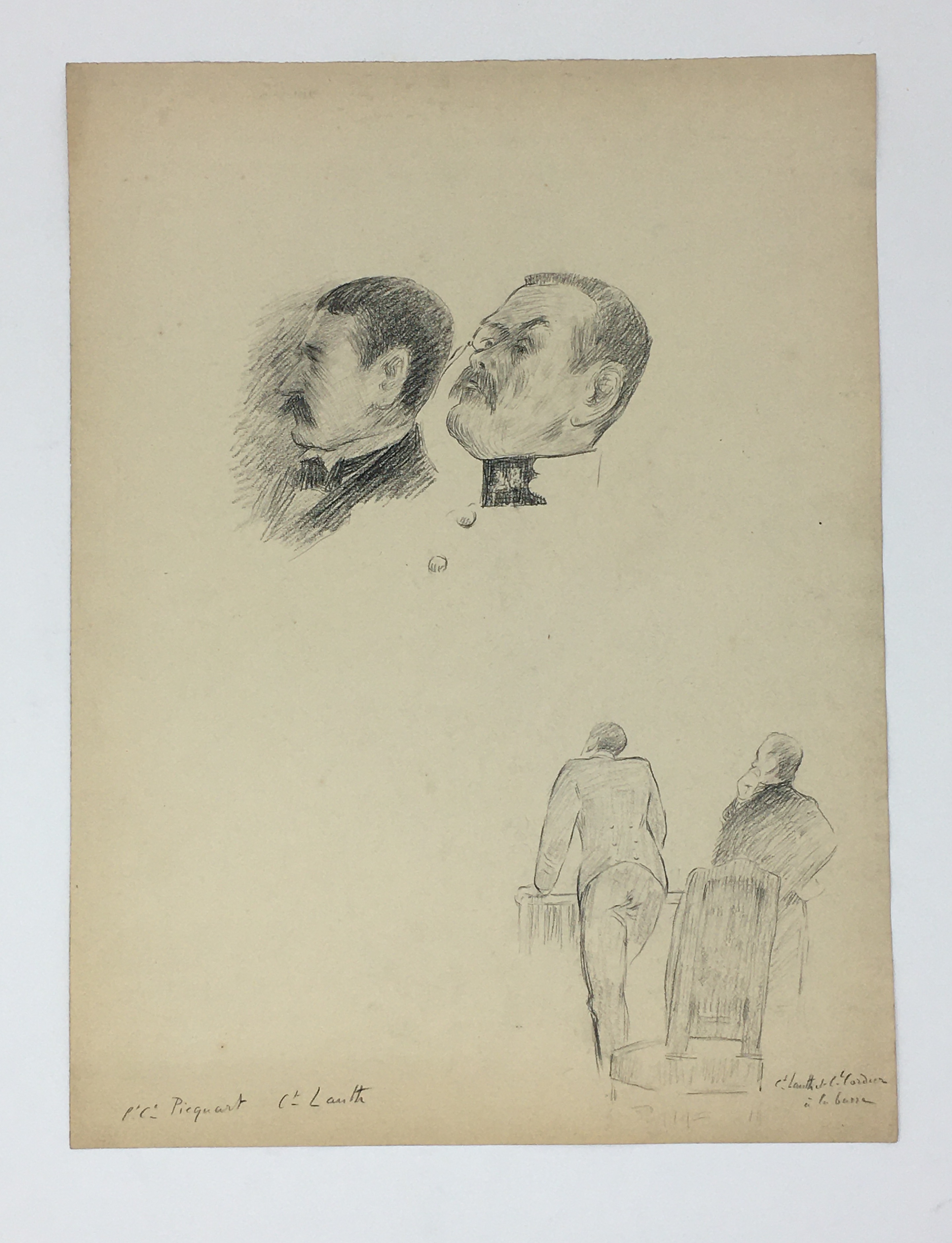 J'Accuse Newspaper, Emile Zola Quote, Signed Dreyfus Portrait, Rare Trial Drawings & Schwartzkoppen - Image 48 of 74