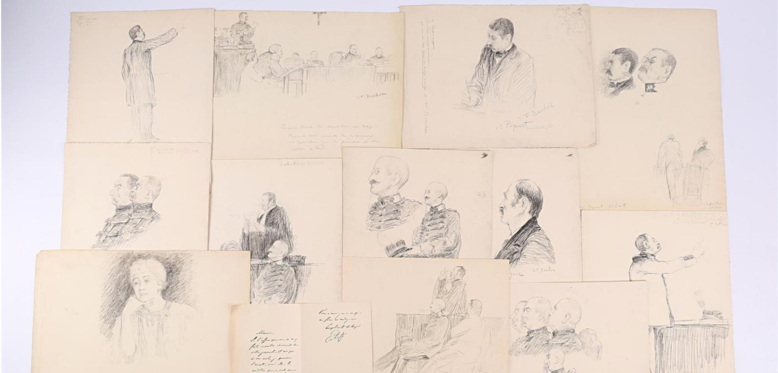 J'Accuse Newspaper, Emile Zola Quote, Signed Dreyfus Portrait, Rare Trial Drawings & Schwartzkoppen - Image 12 of 74