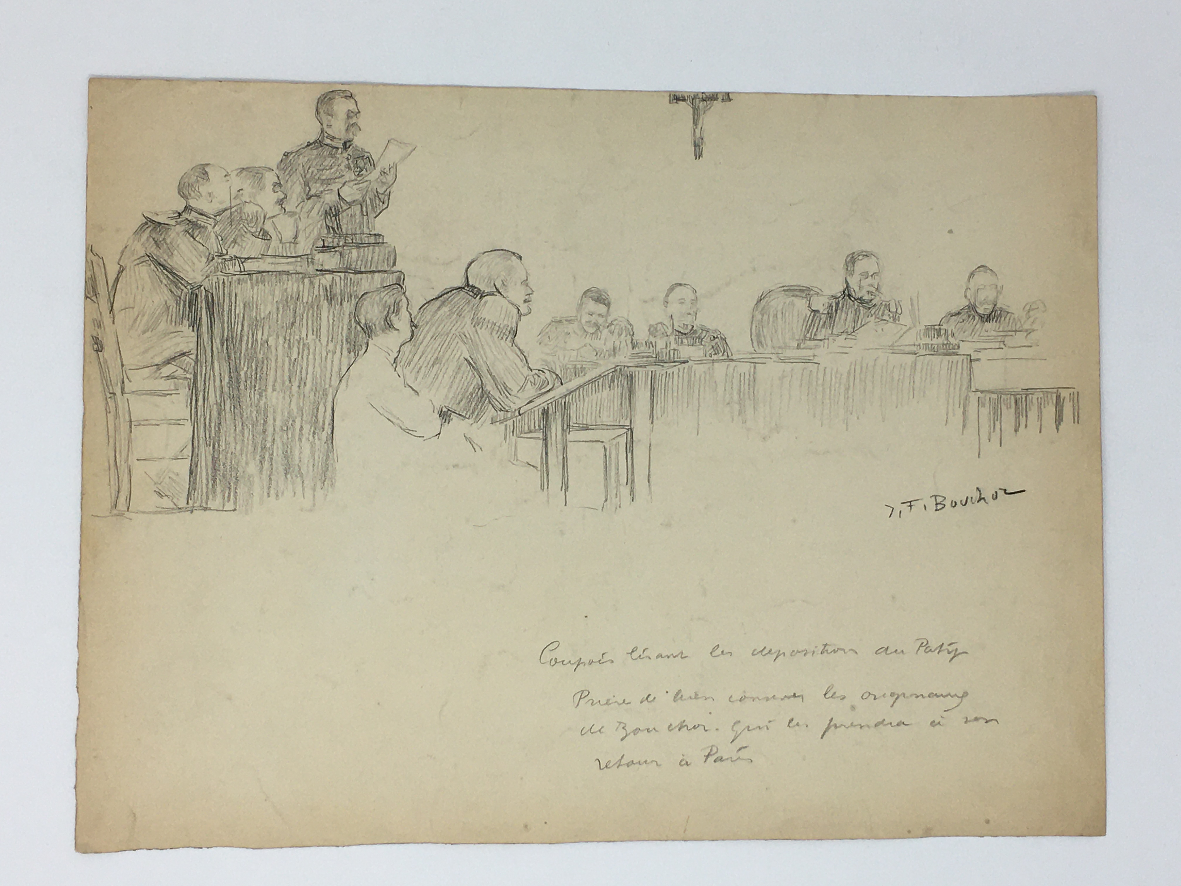 J'Accuse Newspaper, Emile Zola Quote, Signed Dreyfus Portrait, Rare Trial Drawings & Schwartzkoppen - Image 29 of 74