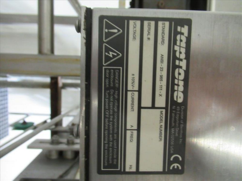 Lot 565 - Teledyne Tap Tone can inspection system mod. no. T400 ser. no. 52358 dud detector, Std ANSI - 23-