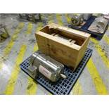 (2) Leeson stainless motors, (1) 15 hp, (1) 10 hp [1st Flr Main Shipping Area]