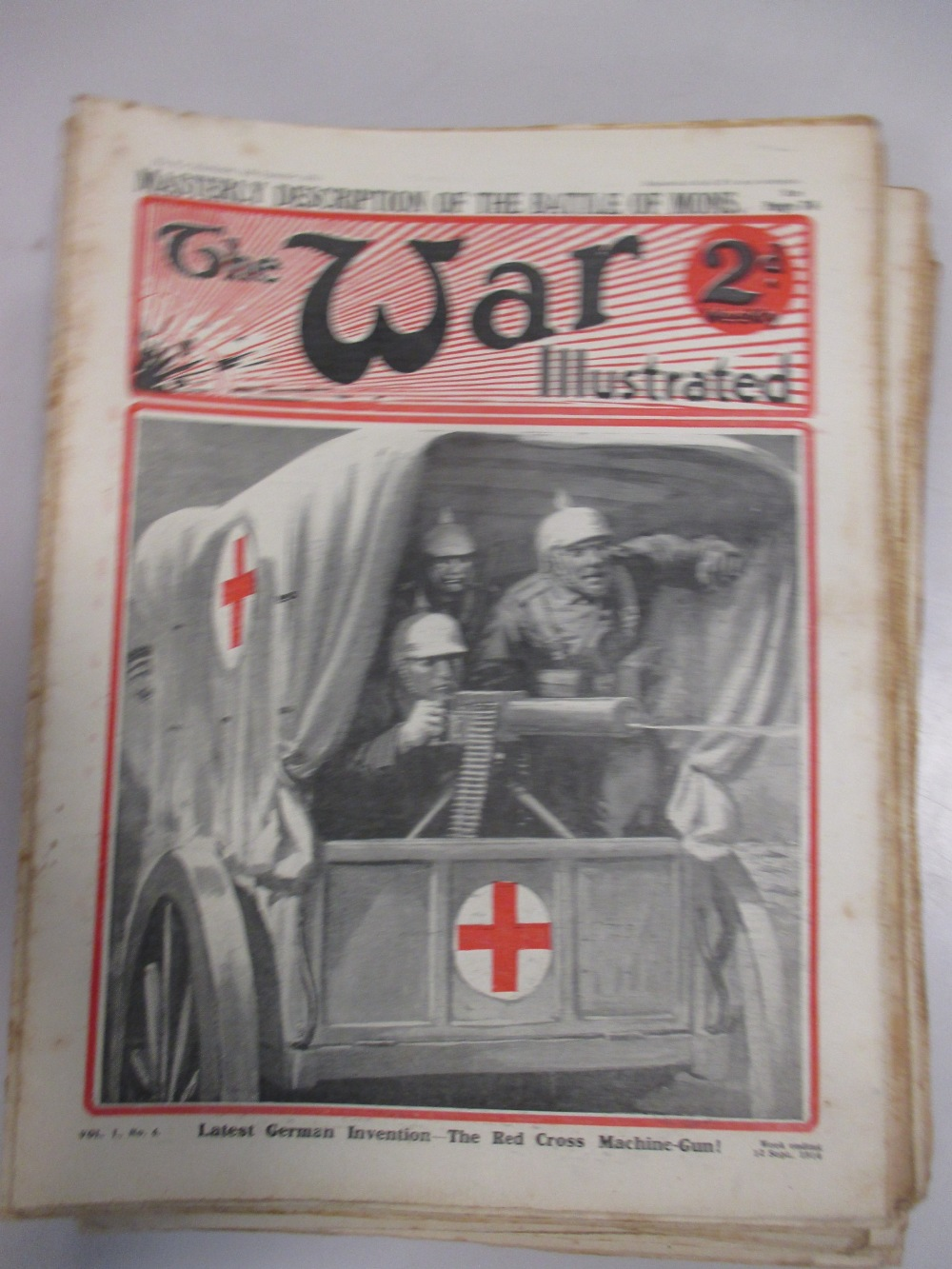 Lot 313 - The War Illustrated, series of loose original weekly parts from 22-8-1914 to 23-10-1915 (see sheet