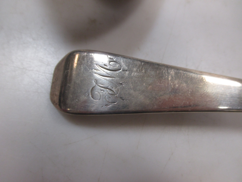 A George III silver basting spoon by Peter & William Bateman, together with a George IV silver - Image 2 of 5
