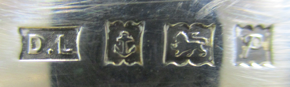 A pair of 20th century silver salts, each of deeply dished navette form and raised on a circular - Image 4 of 4
