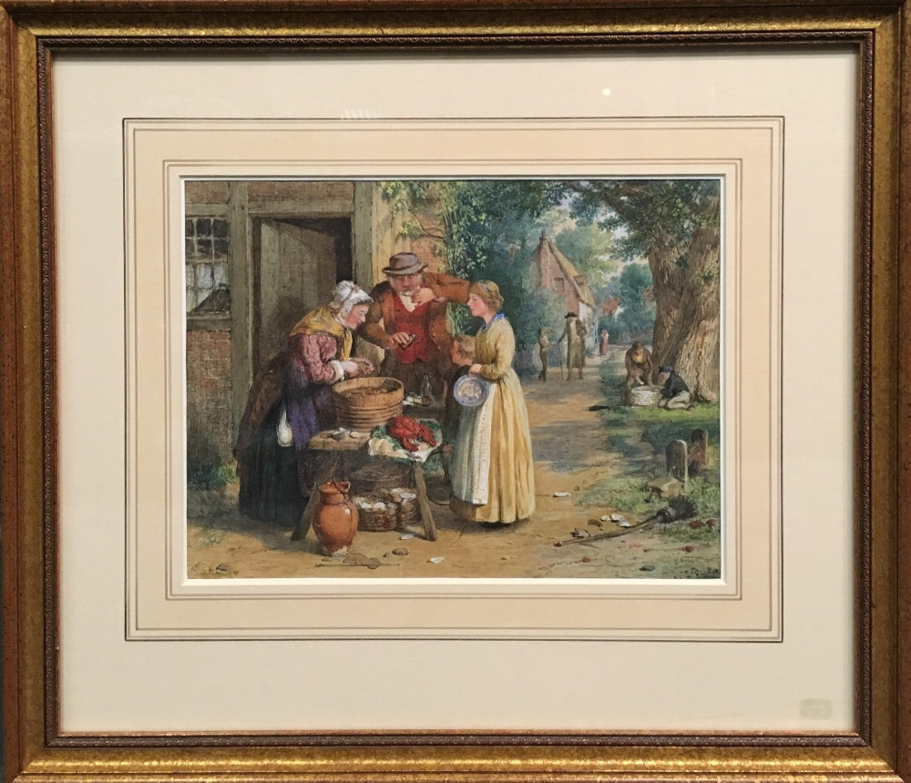 Lot 438 - After George Smith (British, 1829-1901), First Day of Oysters, watercolour, bears signature and date