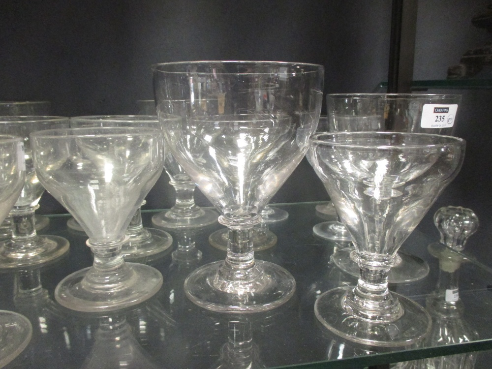 Lot 235 - A collection of twenty 19th century and later various sized rummers (20)