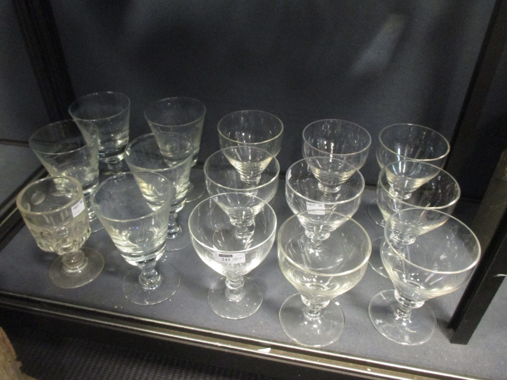 Lot 243 - A set of 19th century style nine glass rummers, together with a quantity of other glass ware and