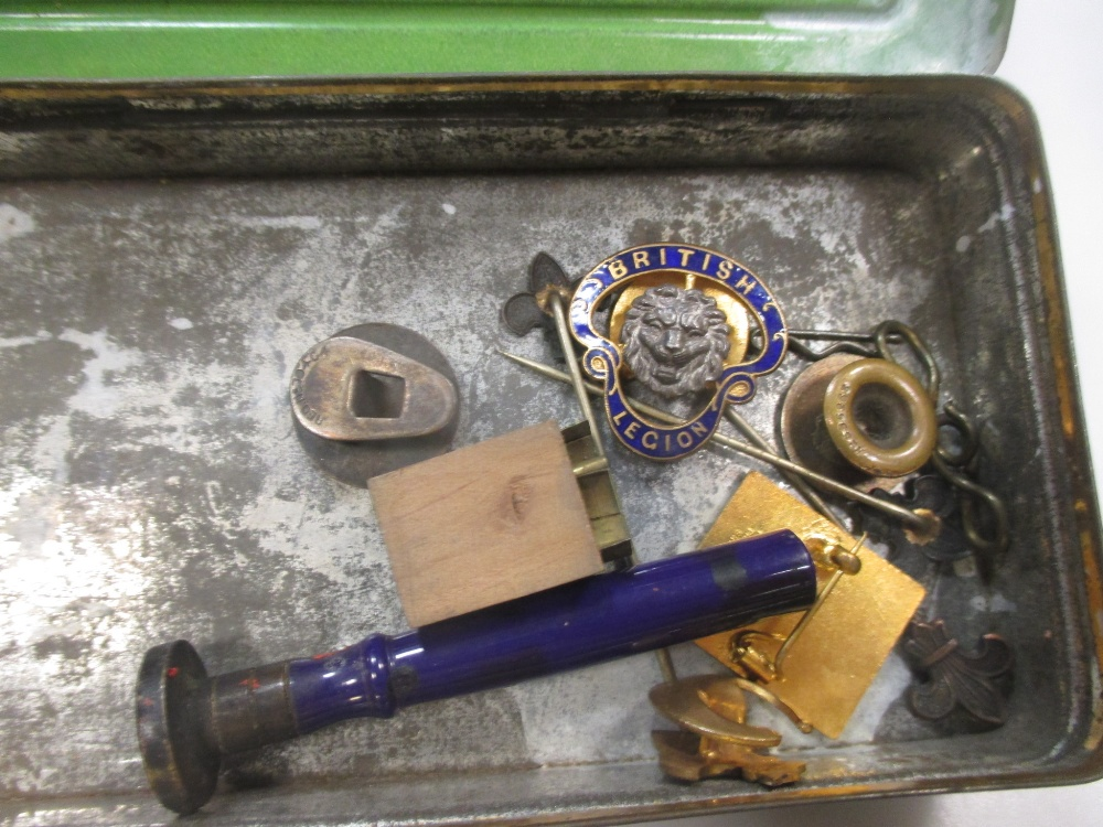 A silver dwarf candlestick, cased teaspoons, pair plated bottle coasters, and various plated items - Image 4 of 4