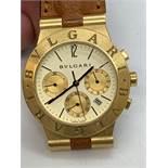 Bulgari Chronograph CH35 G 18k Cream dial 35mm watch