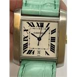 CARTIER 2302 AUTOMATIC WATCH - LEATHER STRAP