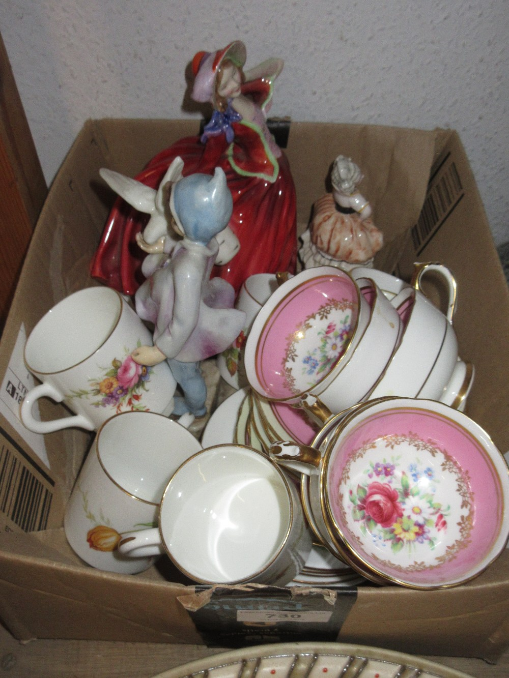 Royal Worcester figure ' Fantails ' together with a Royal Doulton figure ' Autumn Breezes ', small