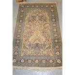 Cotton silk style vase design rug, 60ins x 37ins