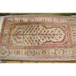 Small Turkish rug of Tree of Life design, 40ins x 24ins