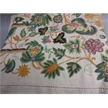 Early to mid 20th Century crewel work bedspread
