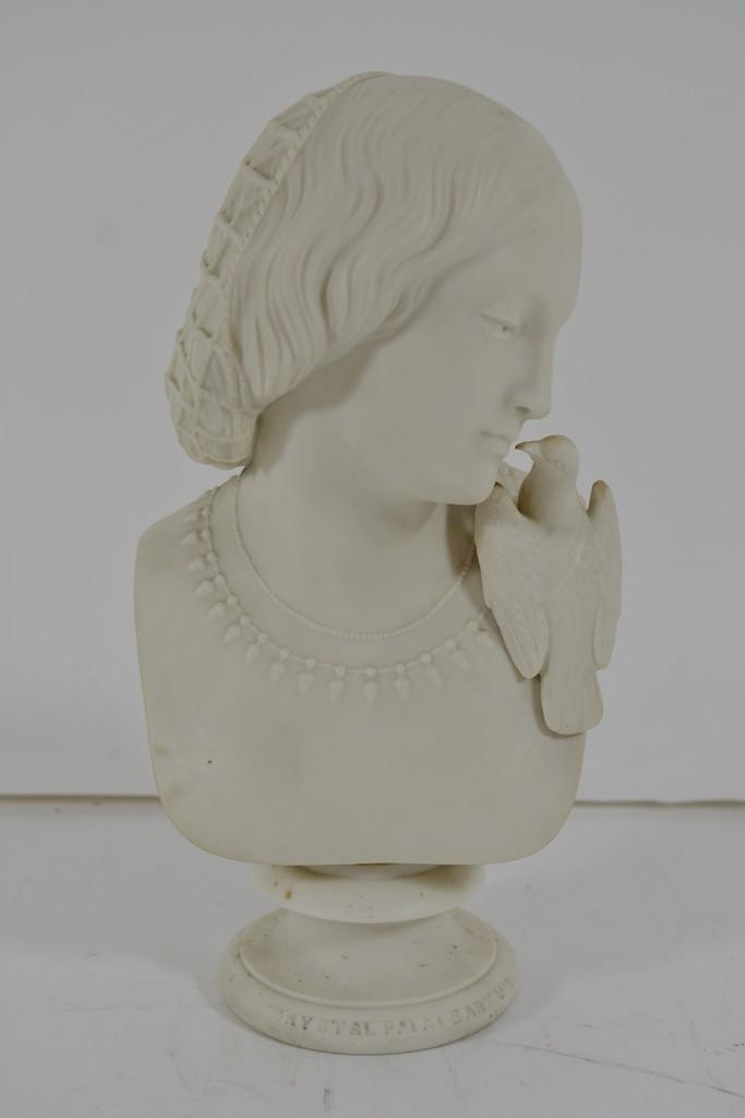 Lot 956 - A Victorian Copeland Parian bust of 'Lesbia' sculp