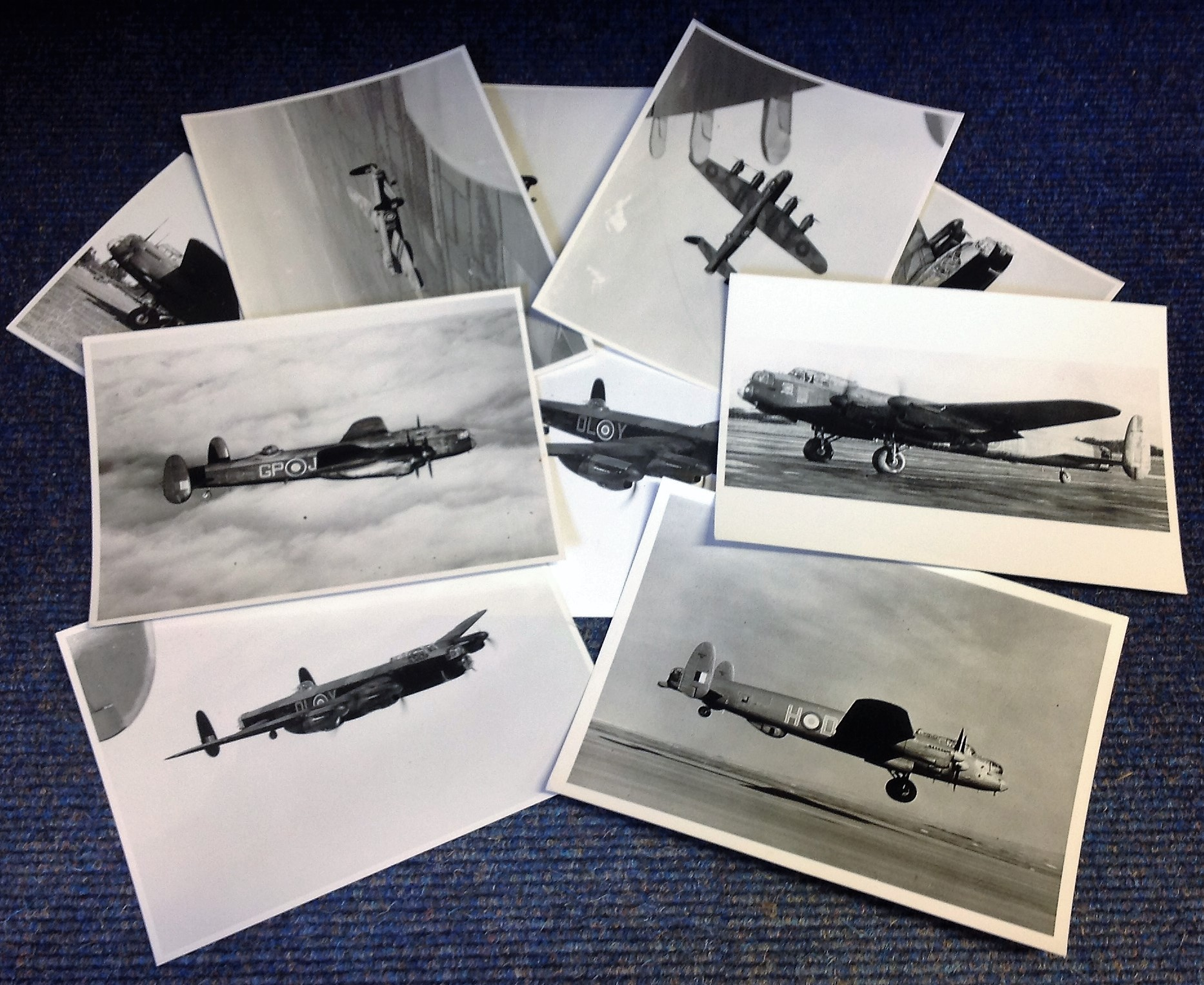 Lot 17 - World War Two collection ten 7x9 vintage b/w photos Avro Lancaster bomber pictured during World