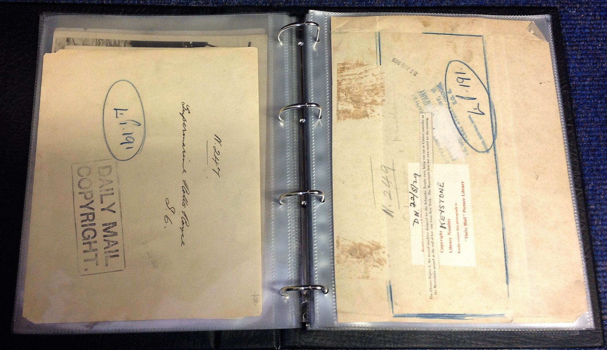 Lot 45 - 1900s SCHNEIDER TROPHY ARCHIVE: A wide-ranging collection of material relating to the Schneider