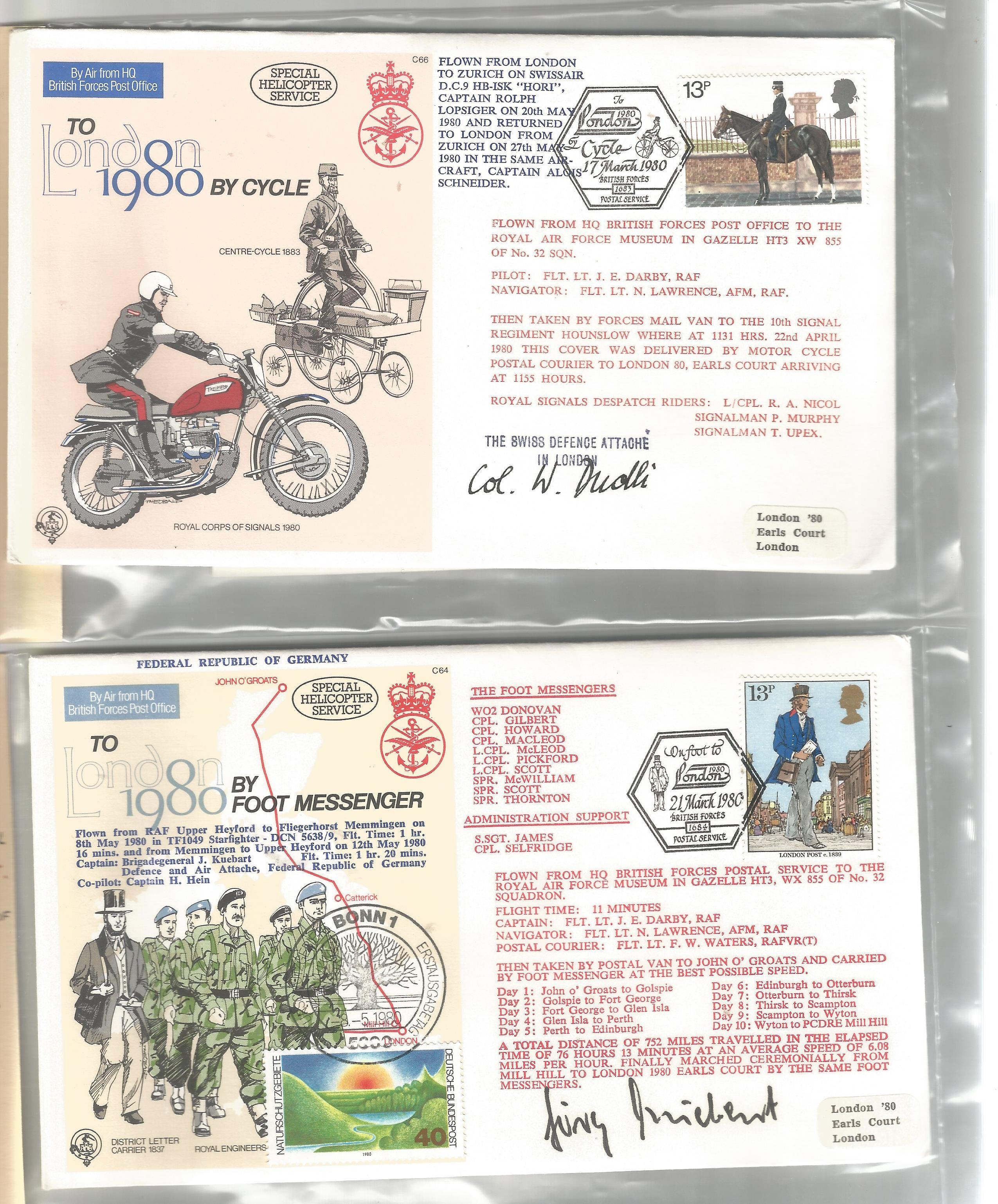 Lot 77 - Aviation collection 50, signed flown FDCs fantastic collection signatures include Col J. G