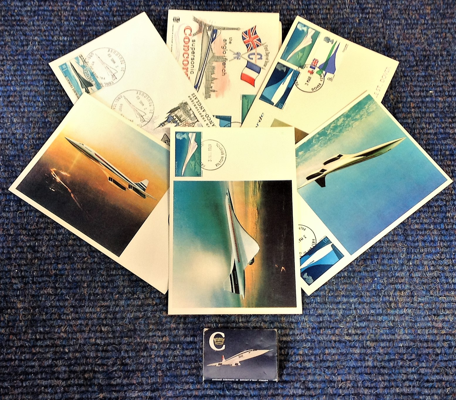 Lot 3 - Concorde collection includes 3, Anglo French FDCs dating back to 1969 , 3 Post Cards PM Filton