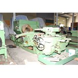 "TAIYO SEIKO MDL. 4-T SADDLE TYPE TURRET LATHE, 38"" sw. over bed, 12-5/8"" hole thru spdl., 75 HP main"