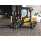"YALE 8,000 LB. CAP. MDL. GDP080VXNCSV098 FORKLIFT, 2-stage mast, 143"" max. lift ht., side shift,"