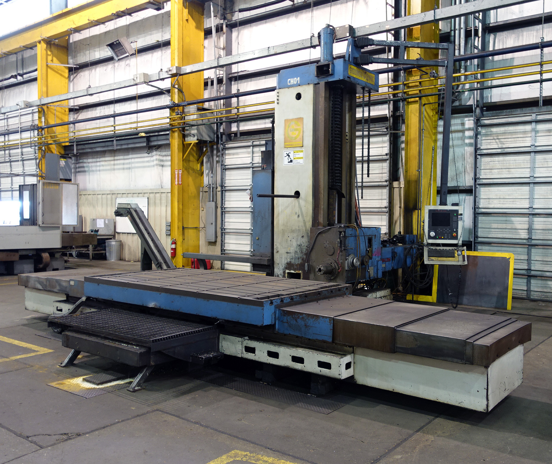 "Lot 56 - GIDDINGS & LEWIS MDL. 70H-6T-3X CNC TABLE TYPE HORIZONTAL BORING MILL, Numatix CNC control, 6"" spdl."