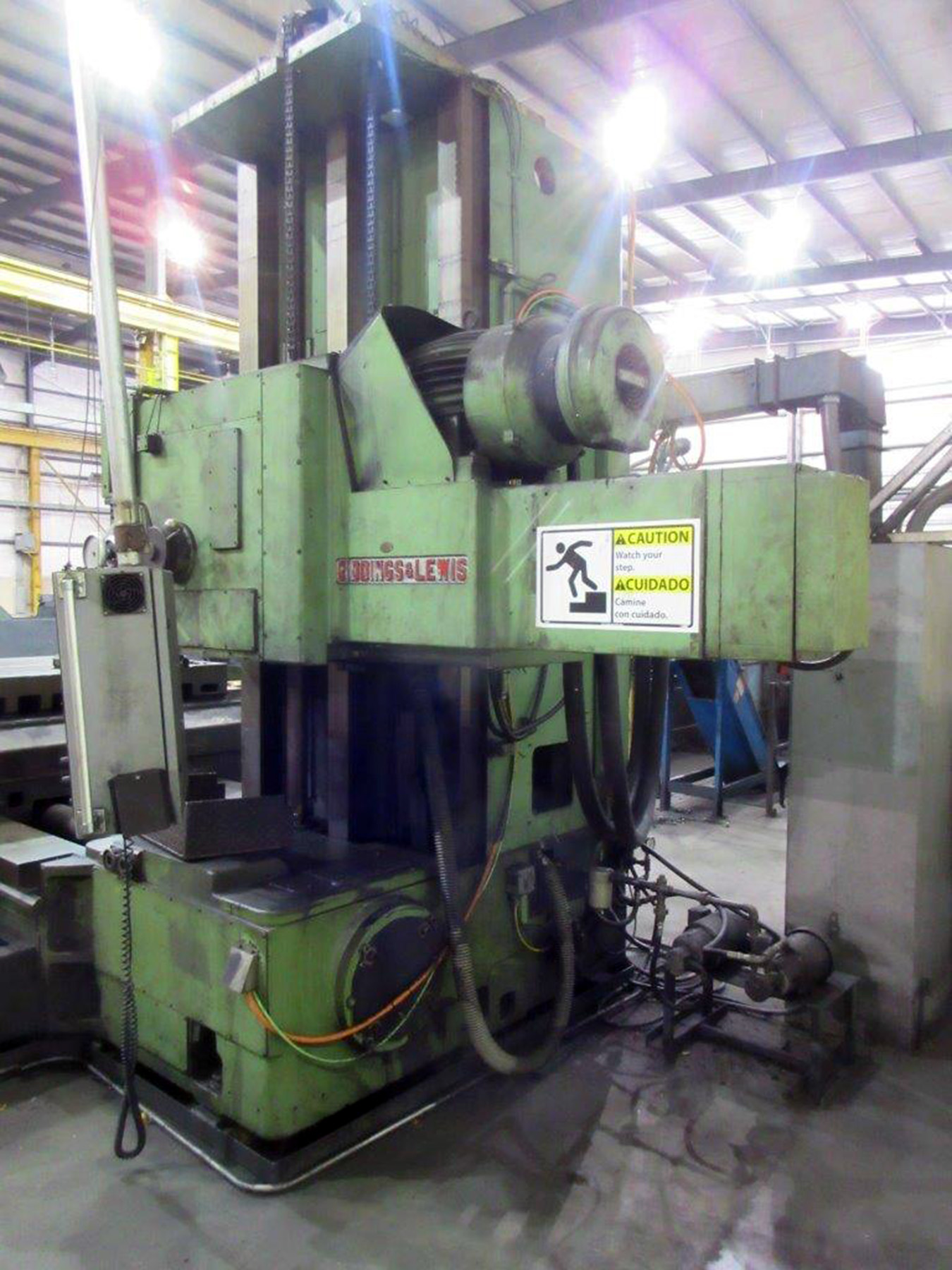 "Lot 57 - GIDDINGS & LEWIS MDL. 65H5 CNC TABLE TYPE HORIZONTAL BROING MILL, Numatix CNC control, 5"" dia."