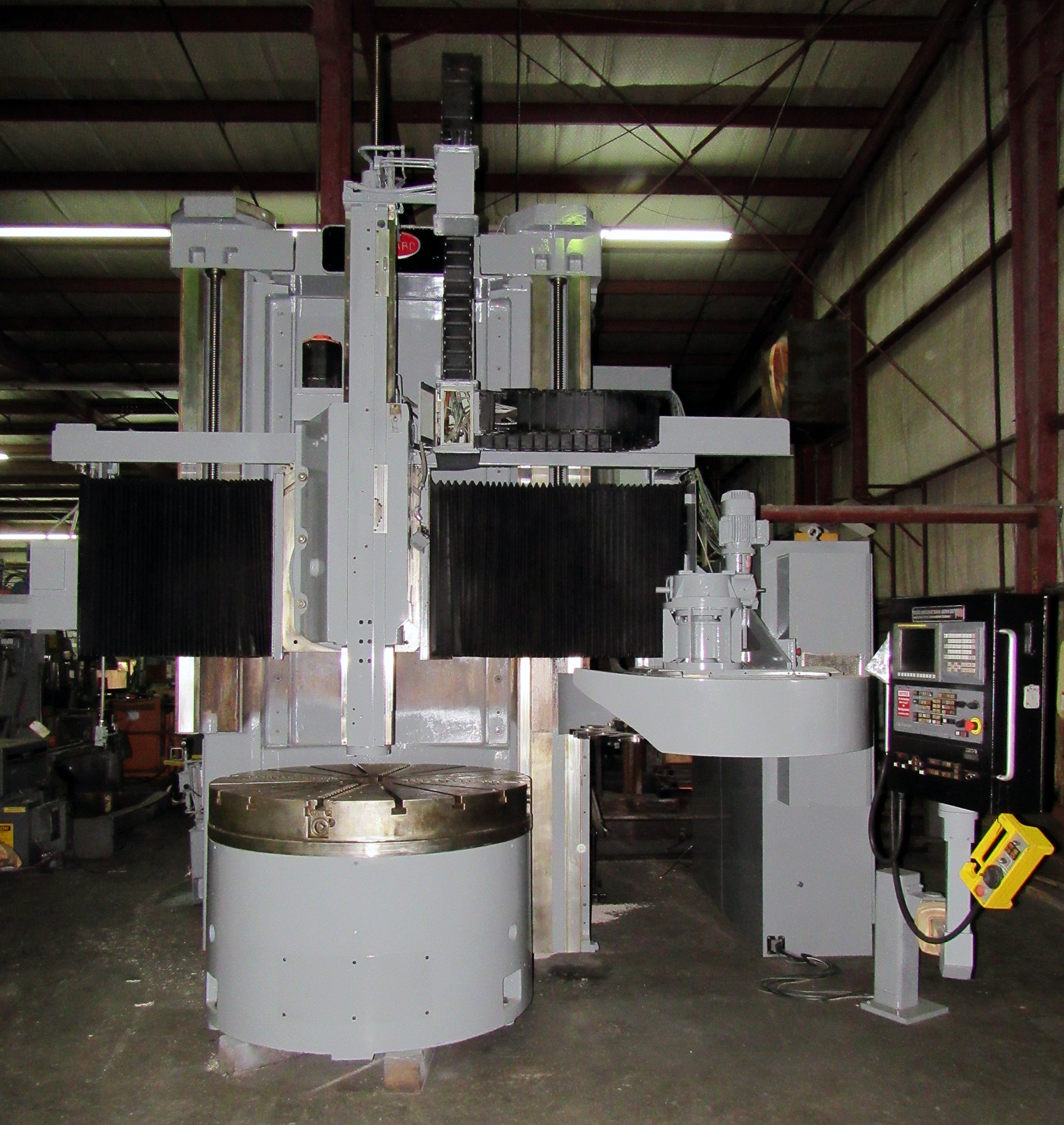 "Lot 30 - BULLARD DYN-AU-TAPE 56"" CNC VERTICAL BORING MILL, retrofitted 9/2008 by Essex Machine Tool Services,"