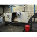 "HWACHEON MDL. HI-ECO35 CNC LATHE, Fanuc 18T CNC control, 4.13"" spdl. bore, 23.62"" sw. over bed, 16."