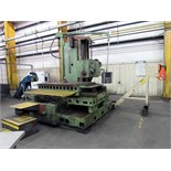 "GIDDINGS & LEWIS MDL. 65H5 CNC TABLE TYPE HORIZONTAL BROING MILL, Numatix CNC control, 5"" dia."