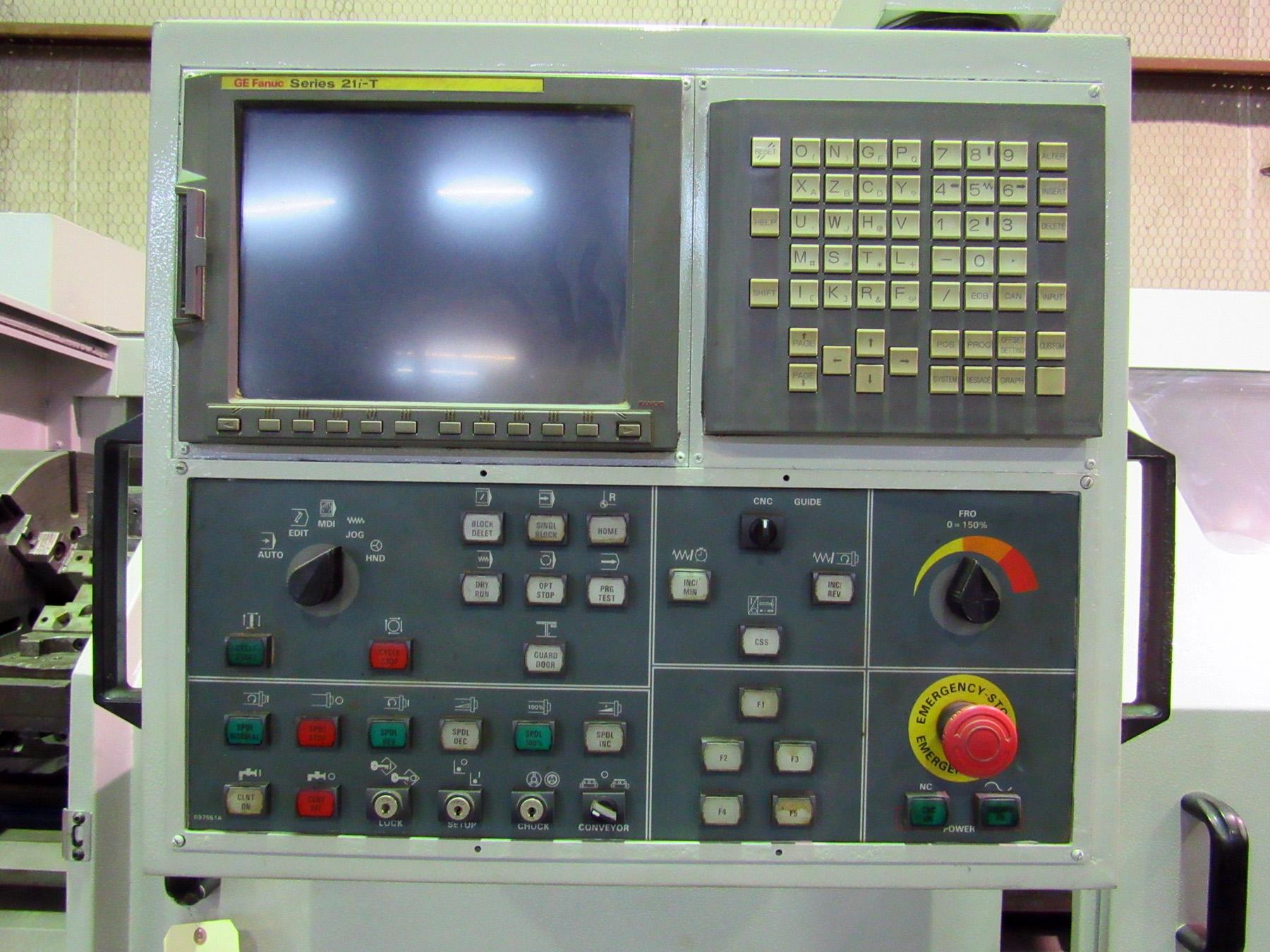 "Lot 29 - ROMI MDL. M-27 27"" X 80"" COMBINATION CNC LATHE, new 2007, G.E. Fanuc 21i-T CNC control, 21"" dia. 4-"